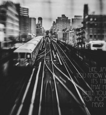 Poster Train Harlem