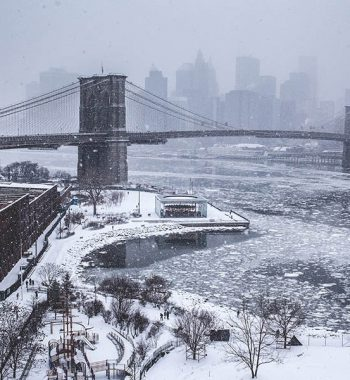 Winterly Brooklyn Bridge