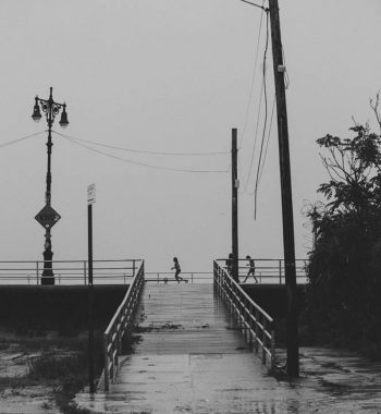 Coney Island in Rain