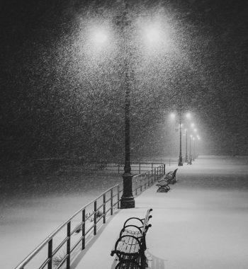 Snowstorm in Coney Island