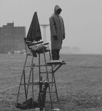Life guard in rain